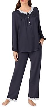 Eileen West Lace Trim Knit Pajama Set