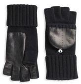 Portolano Fingerless Wool & Leather Gloves