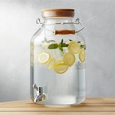 Crate & Barrel Acrylic Drink Dispenser