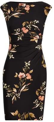 Ralph Lauren Floral Jersey Cap-Sleeve Dress
