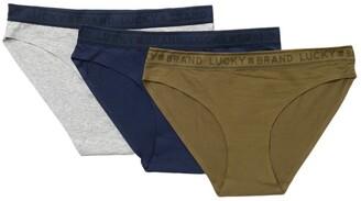 Lucky Brand Bonded Logo Trim Bikini - Pack of 3