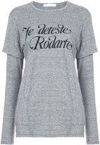 Rodarte Je Deteste layered T-shirt