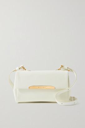 Marni Corinne Mini Leather Shoulder Bag - White