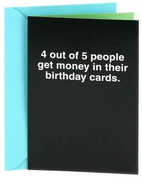 """Hallmark Shoebox Funny Birthday """"4 Out of 5 People"""" Greeting Card"""