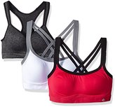 Lily of France Women's 3 Pack Medium Impact Active Bra 2151902