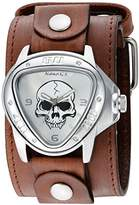 Nemesis 'Triangle Heavy Duty' Quartz Stainless Steel and Leather Watch, Color:Brown (Model: BFLBB936S)