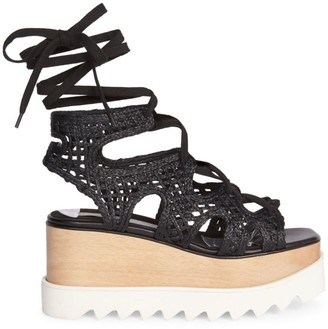 Stella McCartney Elyse Woven Platform Wedge Sandals