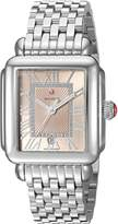 Michele Women's 'Deco Madison' Swiss Quartz Stainless Steel Casual Watch, Color:-Toned