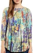 Katina Marie Floral Abstract Top