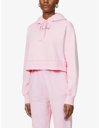Camilla And Marc Logo-print cotton-jersey hoody