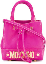 Moschino logo plaque cross-body bag - women - Calf Leather/Suede - One Size