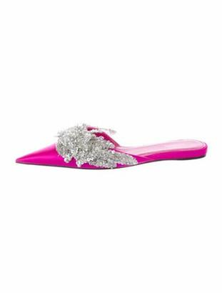 Balenciaga Knife Sequin Embellishments Mules Pink
