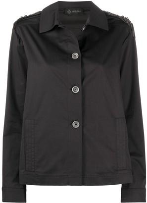 Mr & Mrs Italy Embellished Shoulder Boxy Fit Jacket