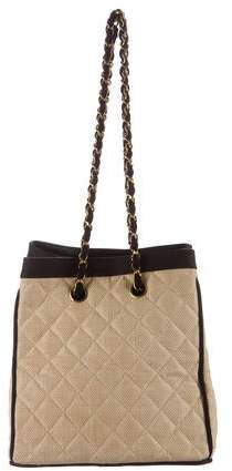 Chanel Drawstring Hemp Shoulder Bag
