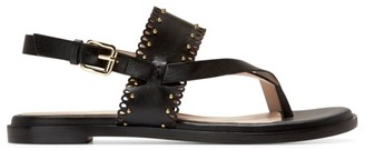 Cole Haan Anica Scallop Leather Slingback Thong Sandals