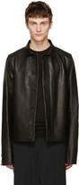 Rick Owens Black Leather Brotherhood Jacket