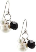 Majorica Sterling Silver Pearl & Crystal Bead Drop Earrings