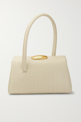 Little Liffner Baby Boss Croc-effect Leather Tote - White