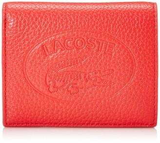 Lacoste Women's Leather Croc Bifold Wallet