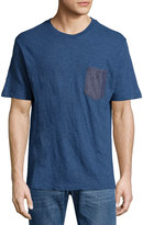 Diesel Chambray Patch-Pocket Tee, Navy Blue