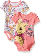 Disney Baby Girls' Winnie the Pooh 2 Pack Bodysuit Layette Set