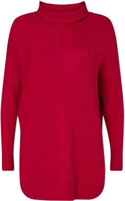 Wallis Red Roll Neck Jumper