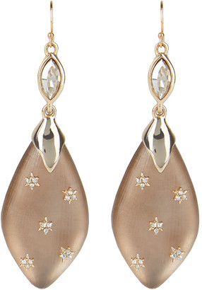 Alexis Bittar Spike Studded Navette Wire Drop Earring