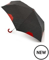 Lulu Guinness Superslim Pinstripe Lip Umbrella