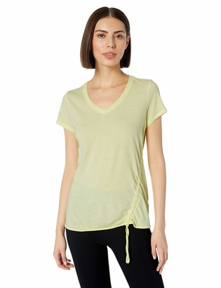 Calvin Klein Women's Front Side Ruched Short Sleeve Tee