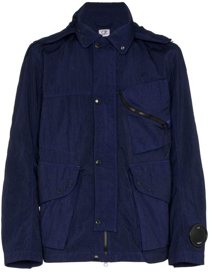 C.P. Company quartz google hooded jacket