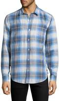 7 For All Mankind Men's Plaid Shirt