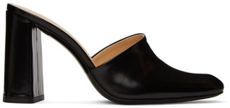 BY FAR Black Semi Patent Nina Mules