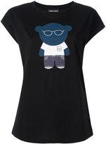 Emporio Armani bear print T-shirt - women - Cotton/Polyester/Lyocell - 46