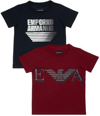 Emporio Armani Set Of 2 Logo Cotton Jersey T-shirts