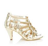 Wallis Gold Caged Sandal