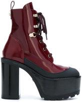Versace platform lace-up boots