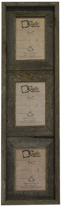 "Rustic Decor Llc Barstow Reclaimed Rustic Barn Wood Vertical Collage Frame, 5""x7"""