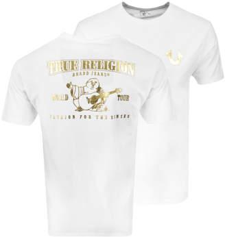 True Religion Metallic Buddha T Shirt White