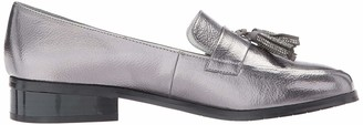 Kenneth Cole Reaction Women's Jet Ahead Dress Loafer with Tassel Detail Metallic Slip-On