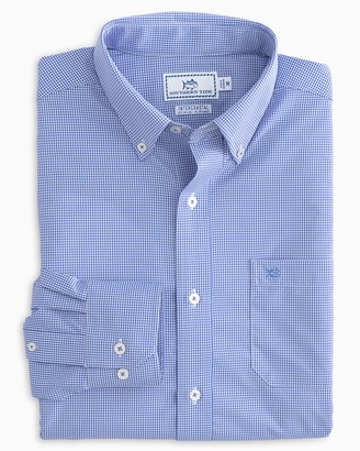 Southern Tide Micro Gingham Intercoastal Performance Sport Shirt