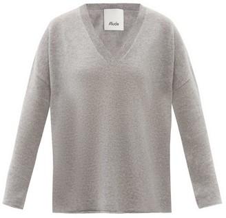 Allude V-neck Cashmere Sweater - Grey