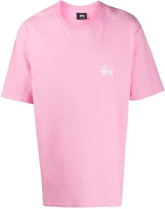 Stussy round-neck logo T-shirt