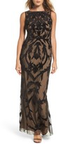 Adrianna Papell Women's Beaded Mesh Gown