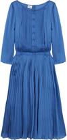 Silk pleated dress