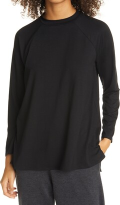 Eileen Fisher Raglan Sleeve Stretch Jersey Tunic