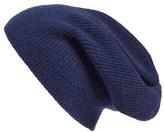 Women's Halogen Slouchy Cashmere Beanie - Blue