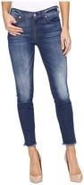 7 For All Mankind The Ankle Skinny w/ Raw Hem in Bondi Beach Women's Jeans