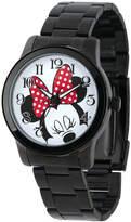 Disney Princess Disney Minnie Mouse Womens Black Stainless Steel Watch