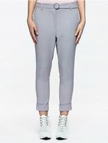 Calvin Klein Platinum Twill Belted Skinny Pants