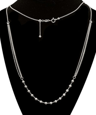 Yeidid International Women's Necklaces - Sterling Silver Italian Beaded Multi-Strand Necklace